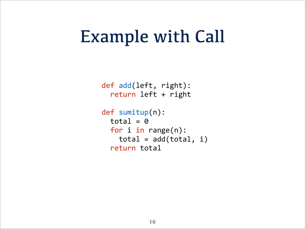 Example with Call def	