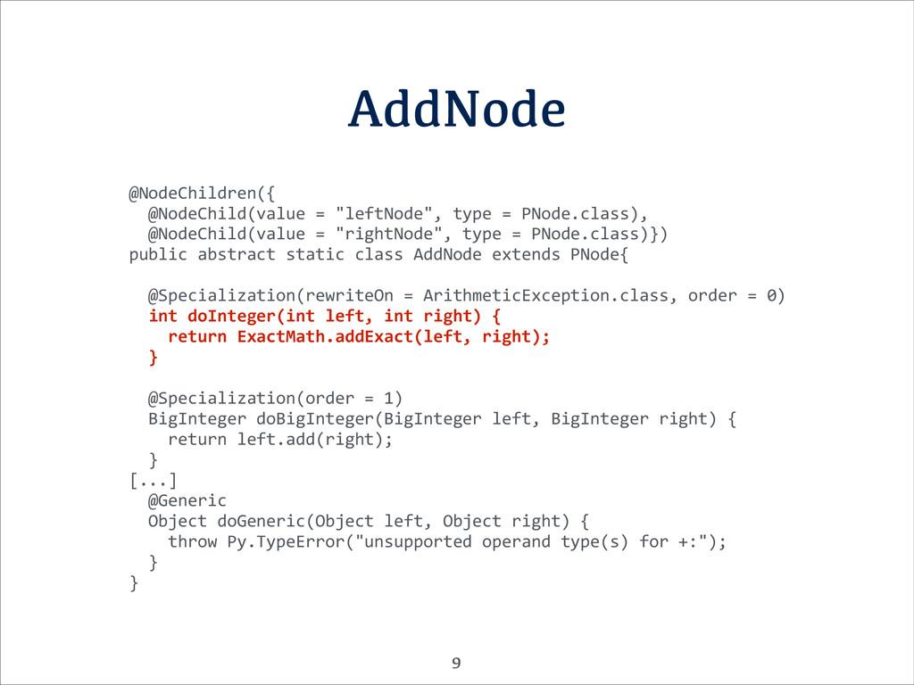 AddNode @NodeChildren({    @NodeChild(...