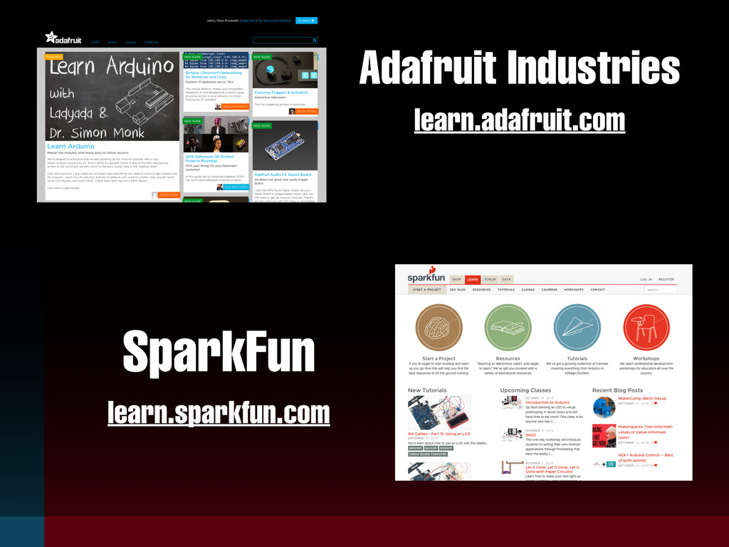 learn.adafruit.com SparkFun Adafruit Industries...