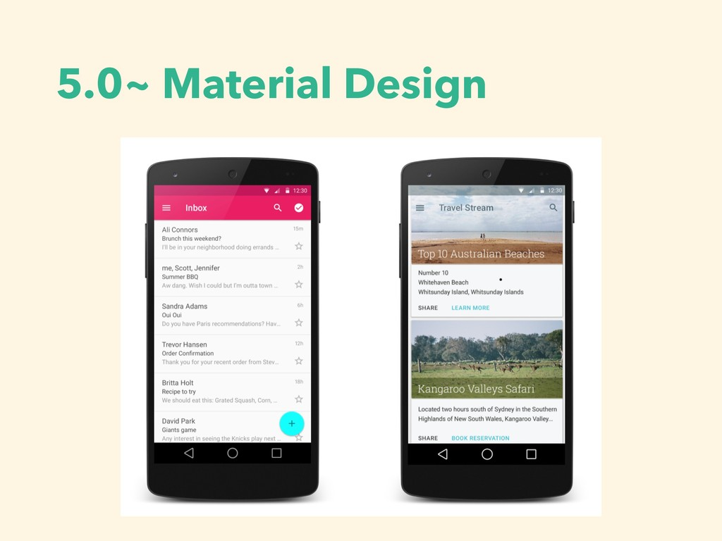 5.0~ Material Design