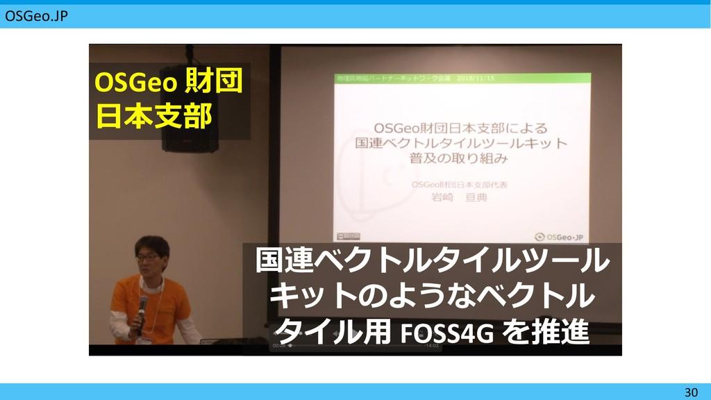OSGeo.JP 30        FOSS4...