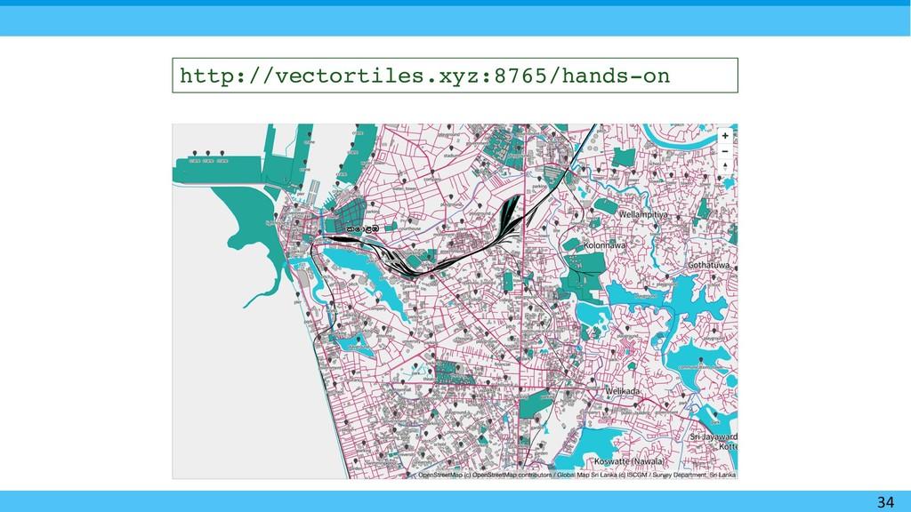 34 http://vectortiles.xyz:8765/hands-on