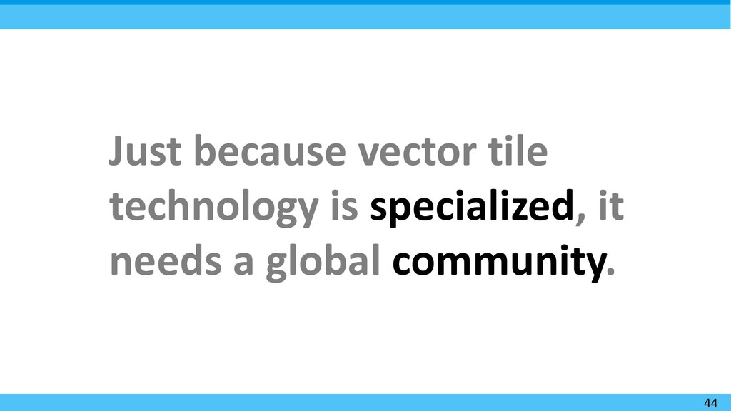 44 Just because vector tile technology is speci...