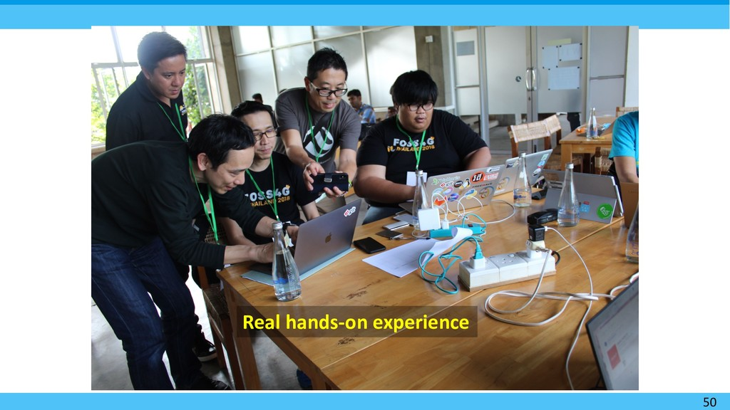 50 Real hands-on experience