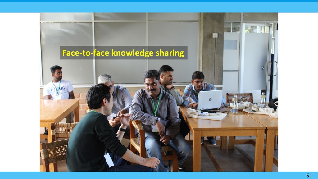51 Face-to-face knowledge sharing