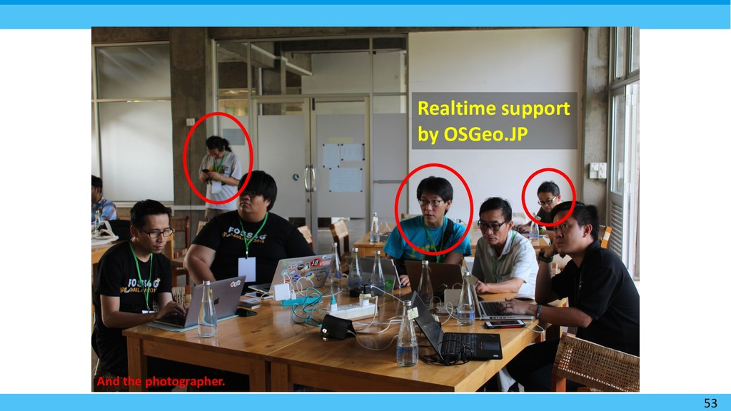 53 Realtime support by OSGeo.JP And the photogr...