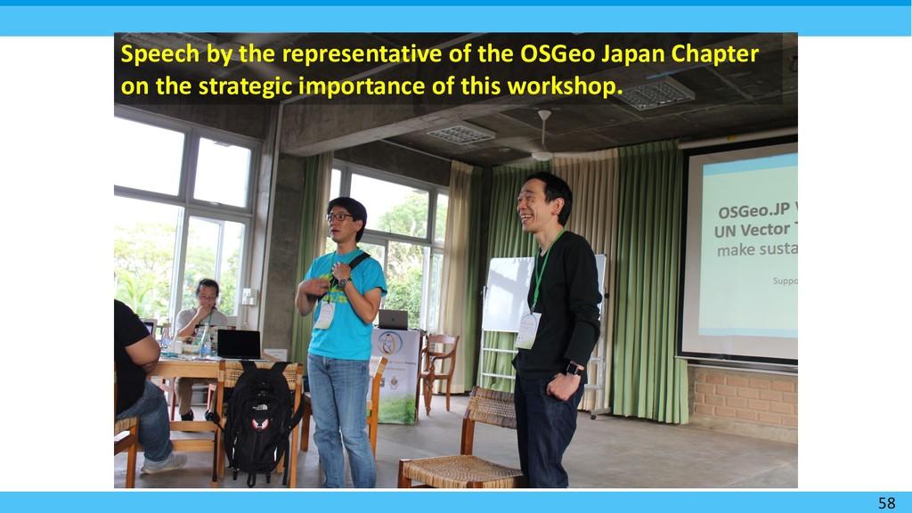 58 Speech by the representative of the OSGeo Ja...