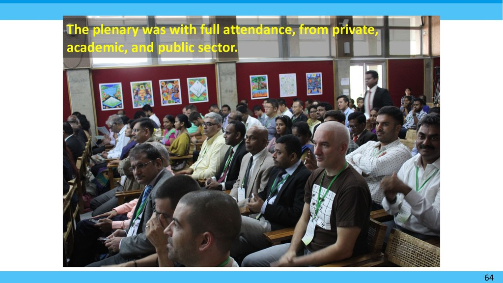 64 The plenary was with full attendance, from p...