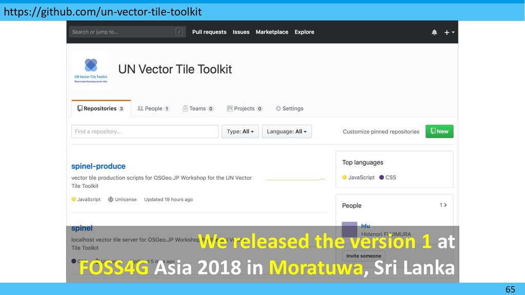 We released the version 1 at FOSS4G Asia 2018 i...