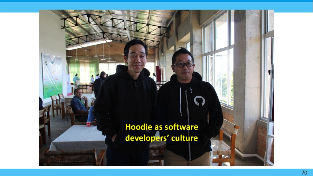 70 Hoodie as software developers' culture