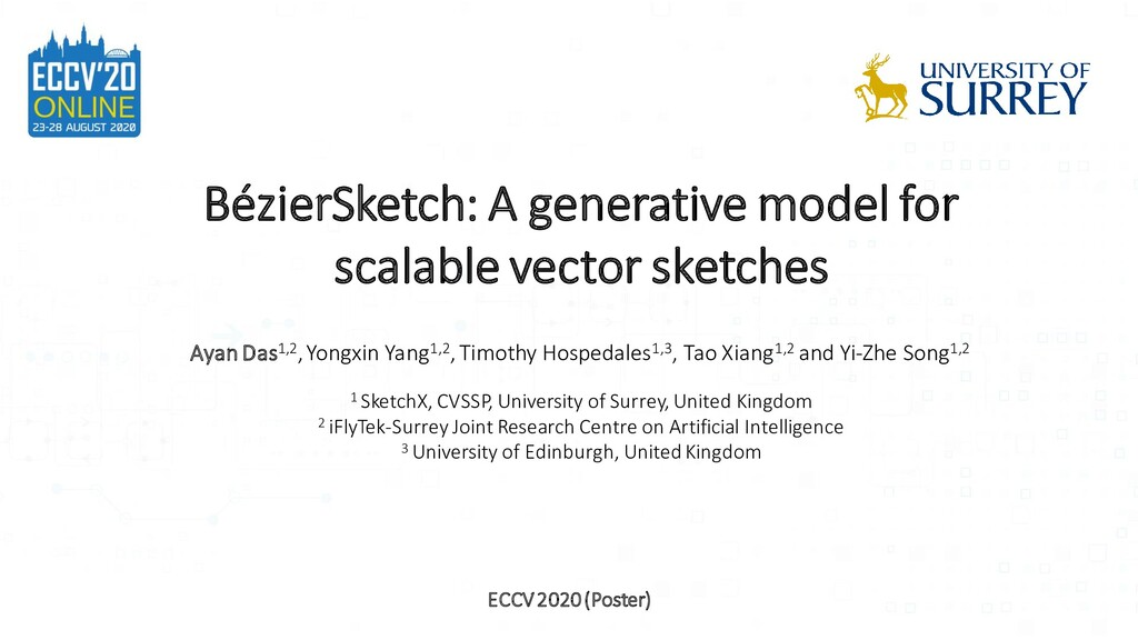BézierSketch: A generative model for scalable v...