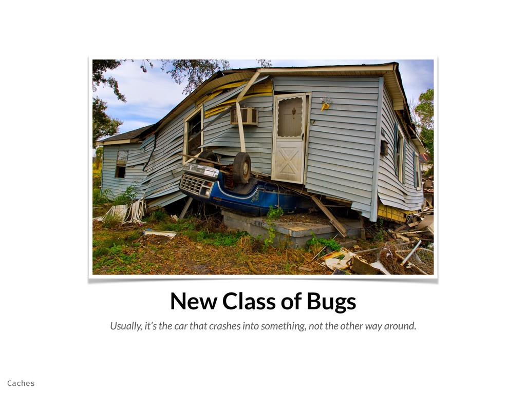 New Class of Bugs Usually, it's the car that cr...