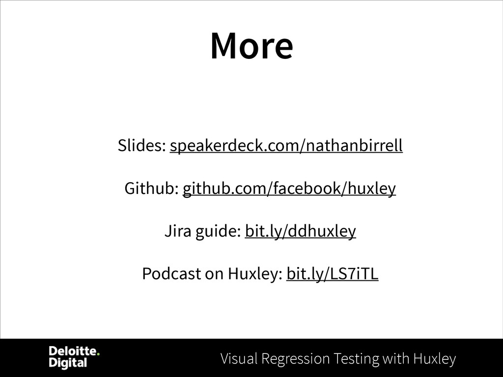 Visual Regression Testing with Huxley More Slid...