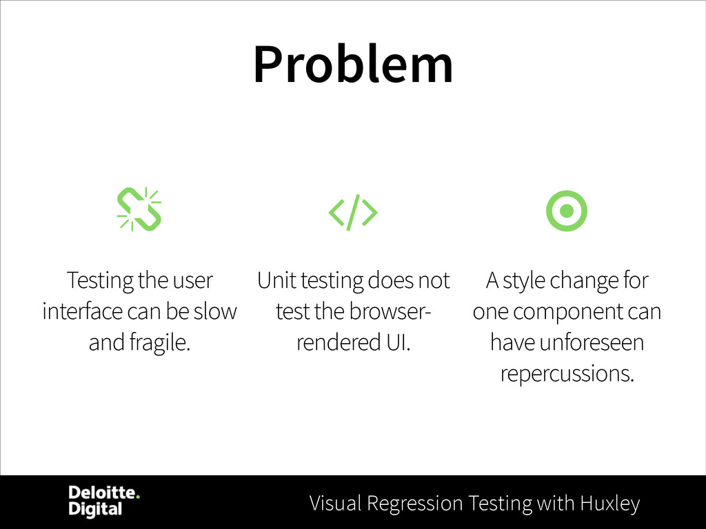 Visual Regression Testing with Huxley Problem T...