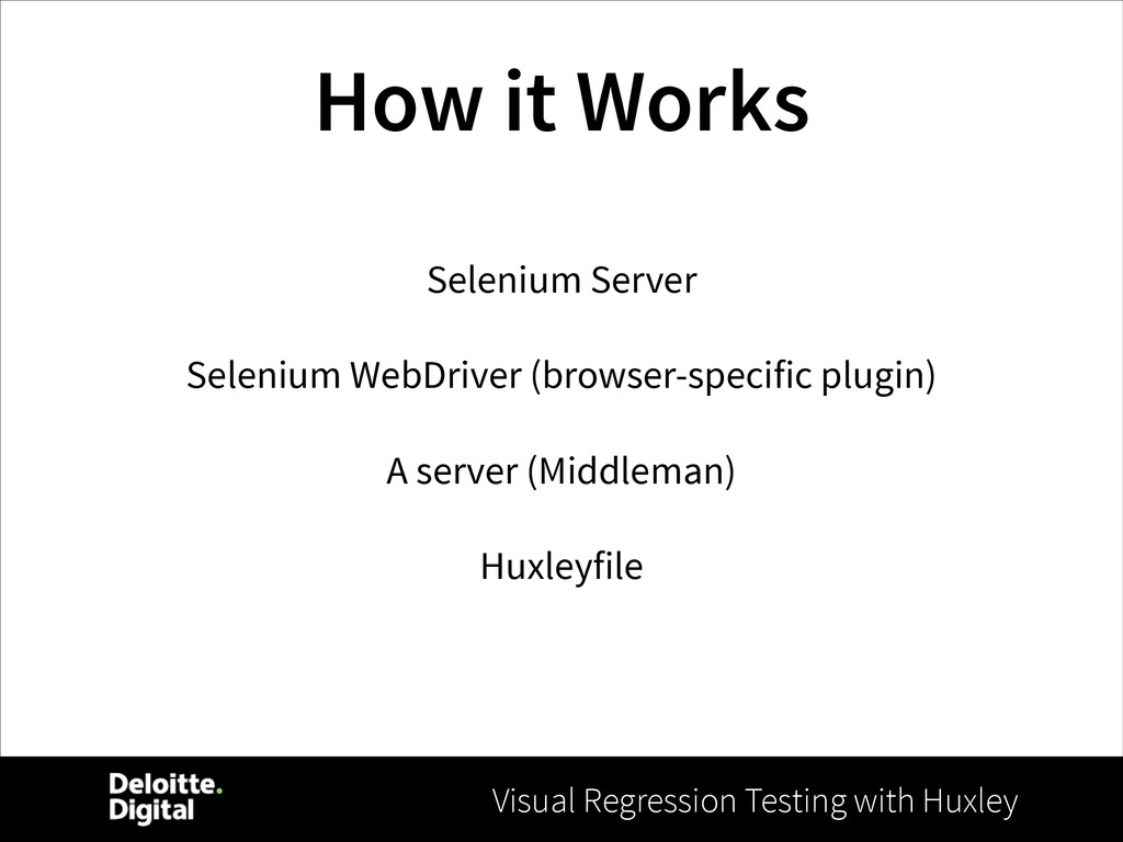 Visual Regression Testing with Huxley How it Wo...