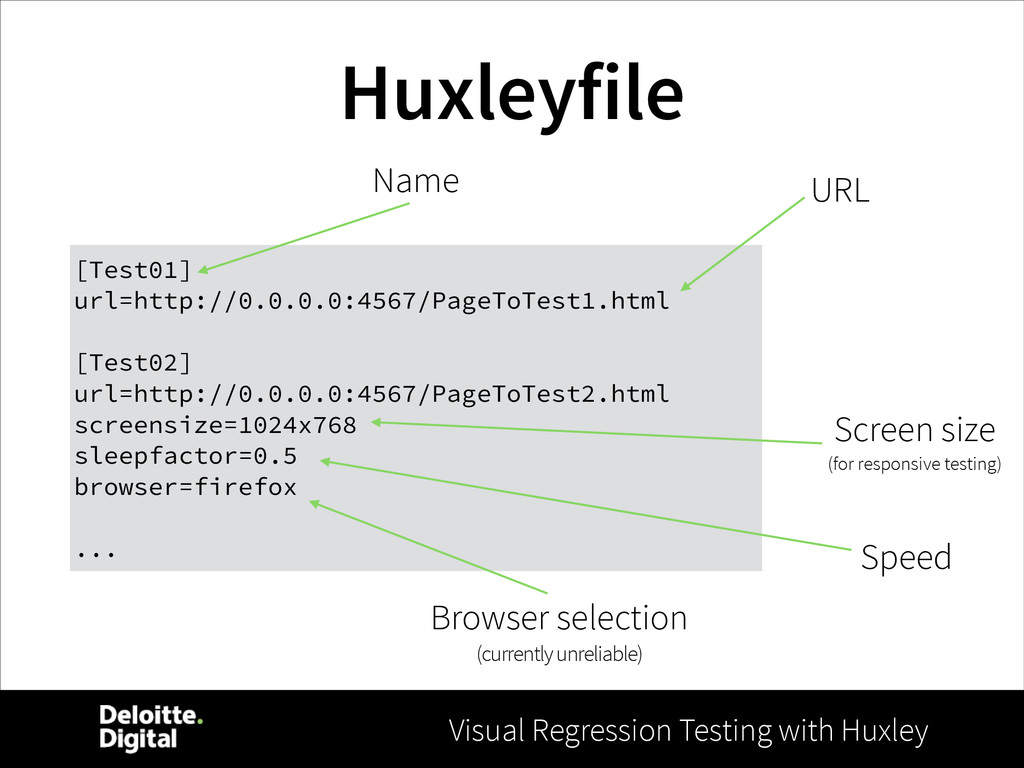 Visual Regression Testing with Huxley Huxleyfil...