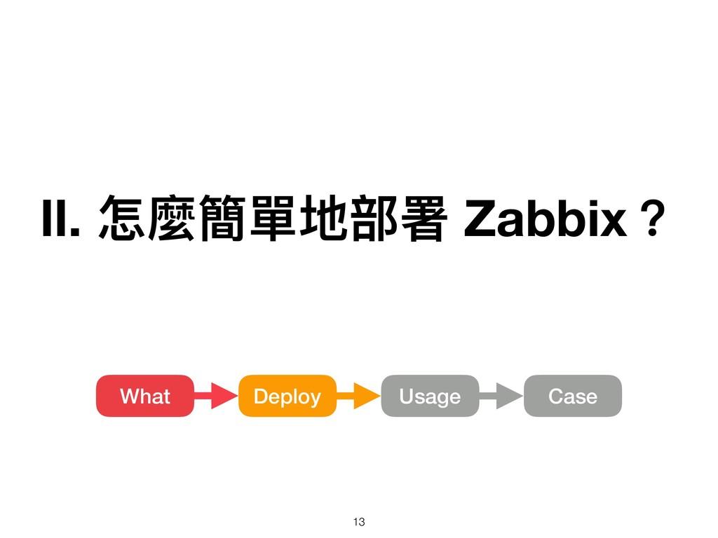 Ⅱ. 怎麼簡單地部署 Zabbix? Deploy What Usage Case !13