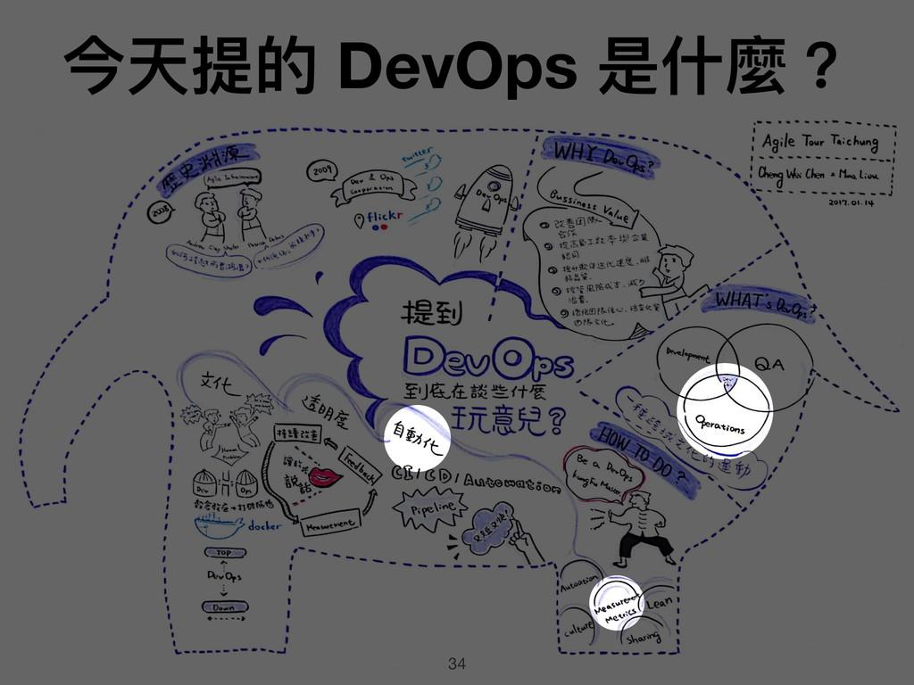 34 今天提的 DevOps 是什什麼?
