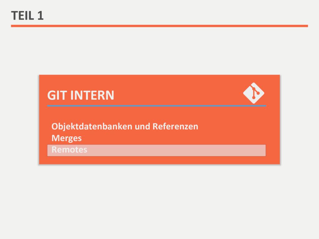 GIT INTERN  TEIL 1  Objektdatenbank...