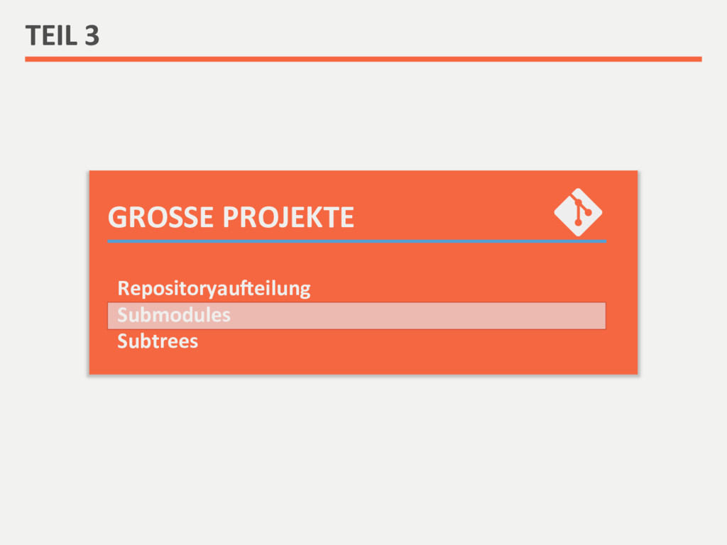 GROSSE PROJEKTE  TEIL 3  Repository...