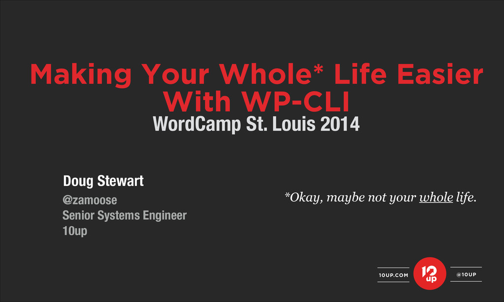 Doug Stewart ! @zamoose Senior Systems Engineer...