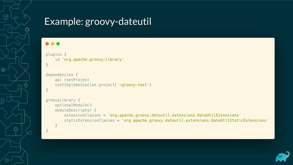 Example: groovy-dateutil