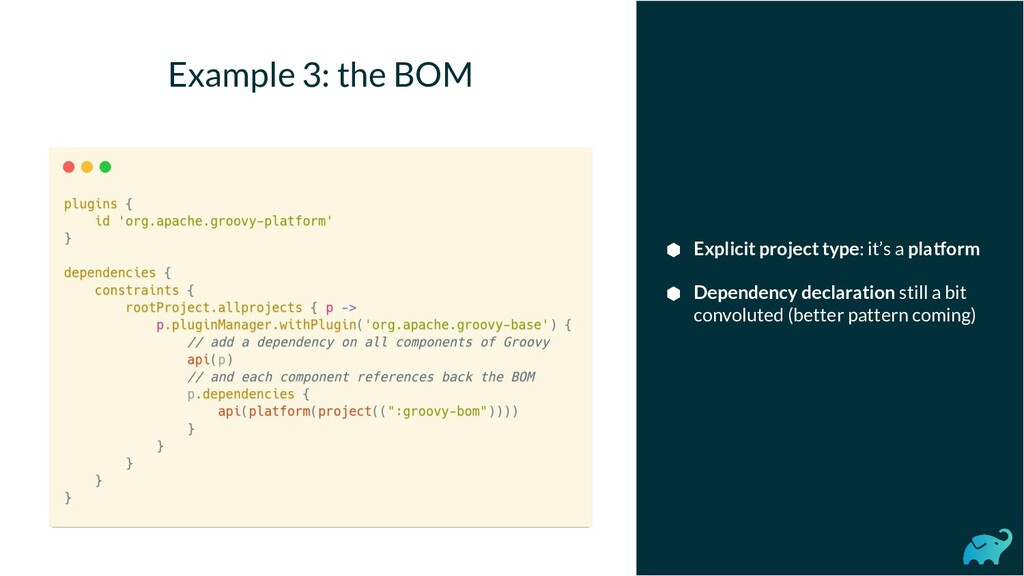 Example 3: the BOM ⬢ Explicit project type: it'...