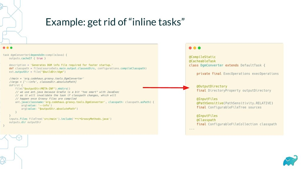 "Example: get rid of ""inline tasks"""