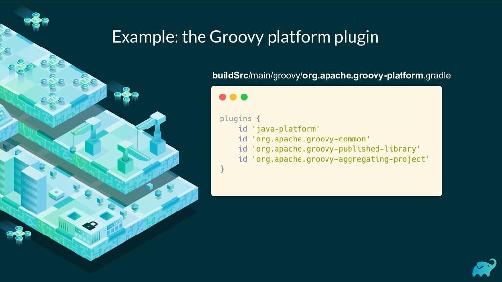 Example: the Groovy platform plugin buildSrc/ma...