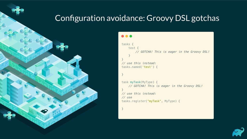 Configuration avoidance: Groovy DSL gotchas