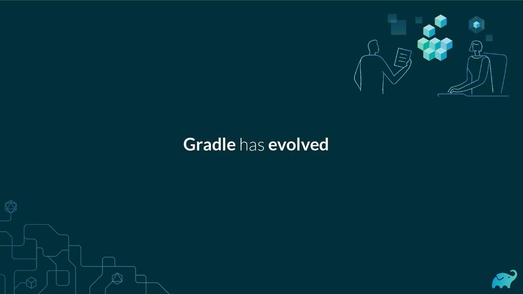 Gradle has evolved