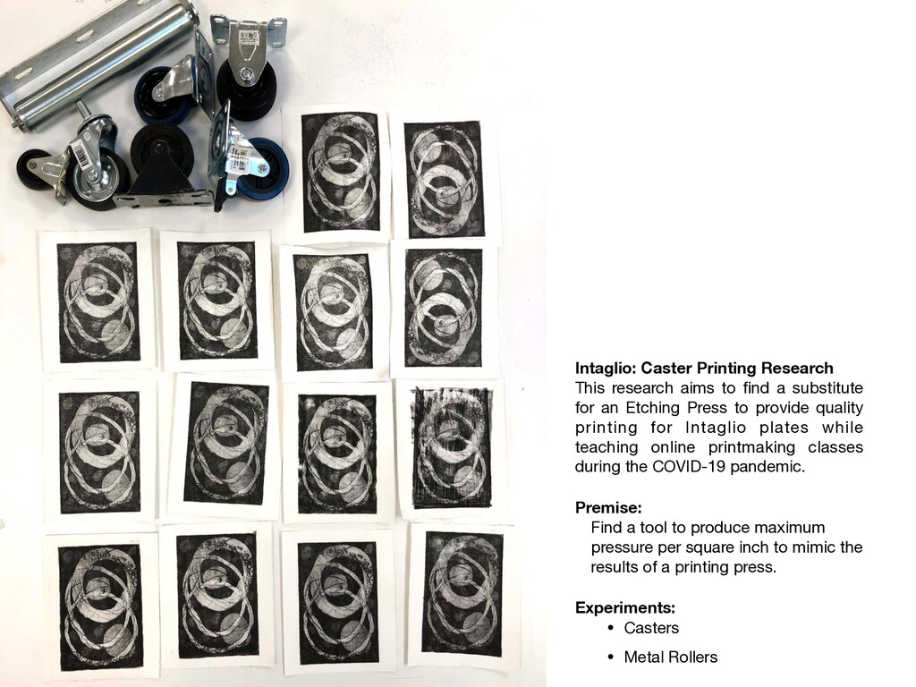 Intaglio: Caster Printing Research This researc...