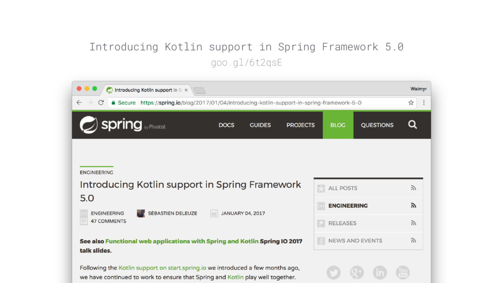 Introducing Kotlin support in Spring Framework ...