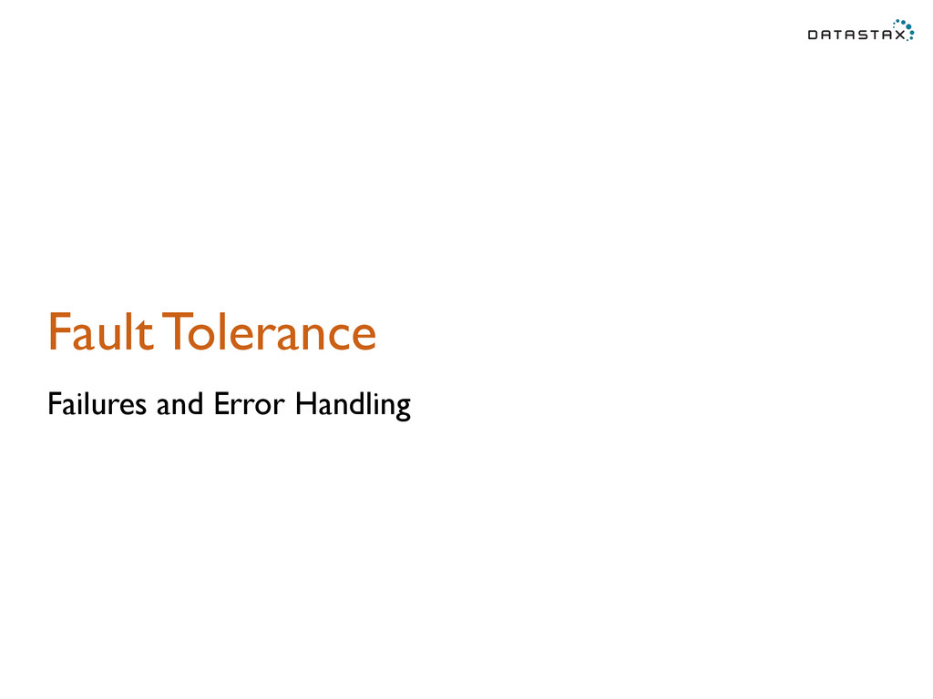 Fault Tolerance Failures and Error Handling