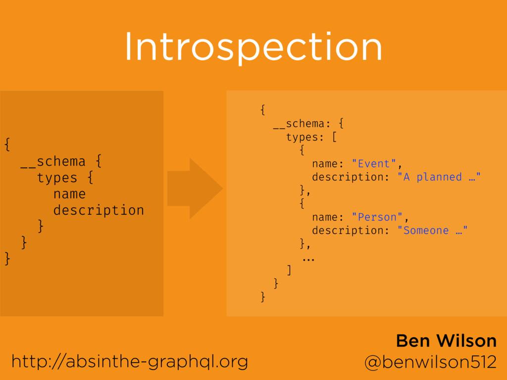 Introspection http://absinthe-graphql.org Ben W...