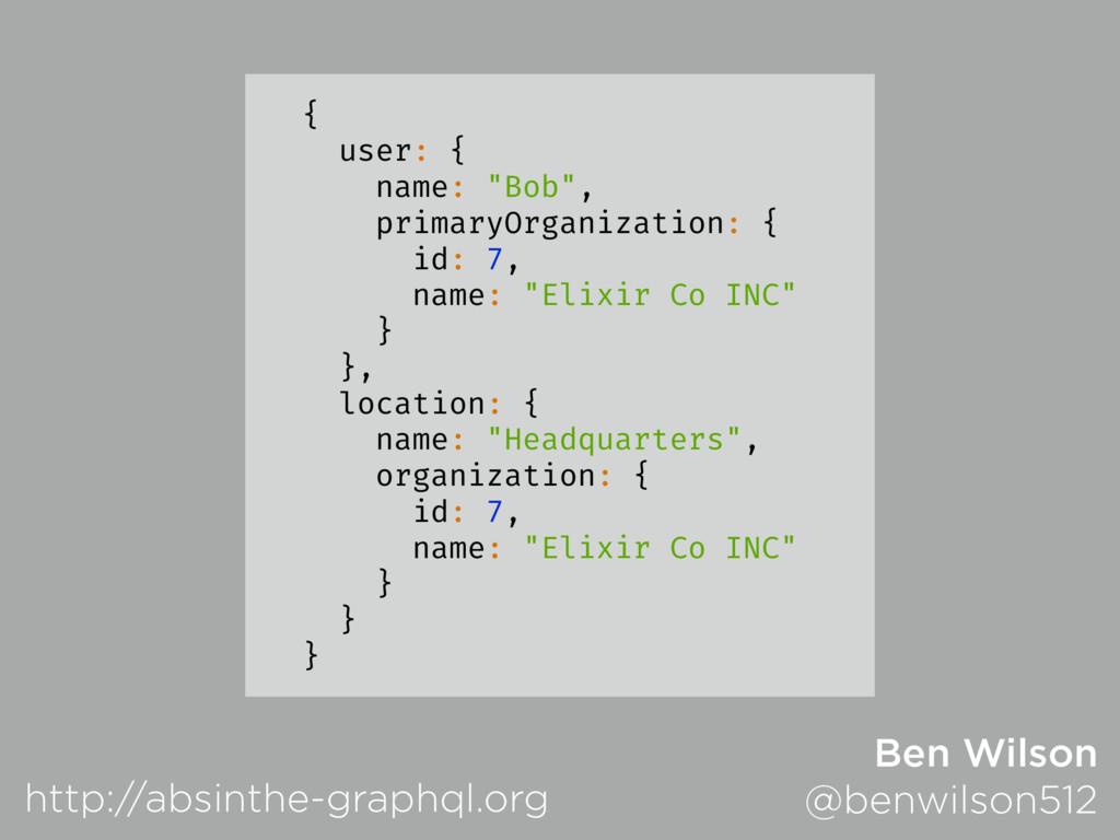 "{ user: { name: ""Bob"", primaryOrganization: { i..."