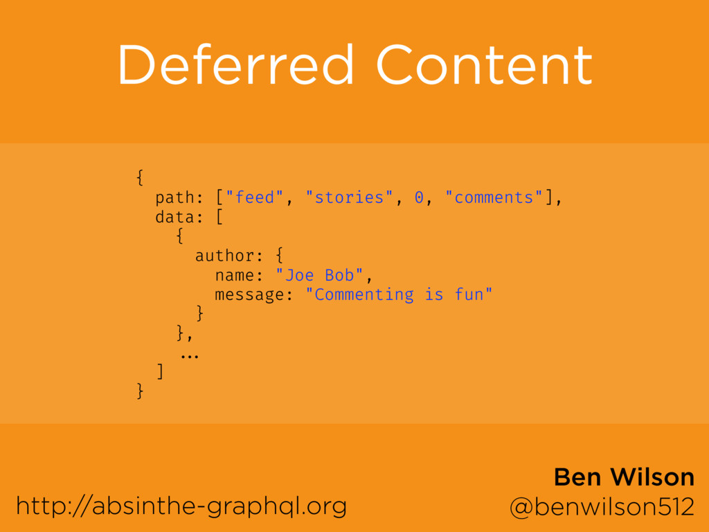 Deferred Content http://absinthe-graphql.org Be...