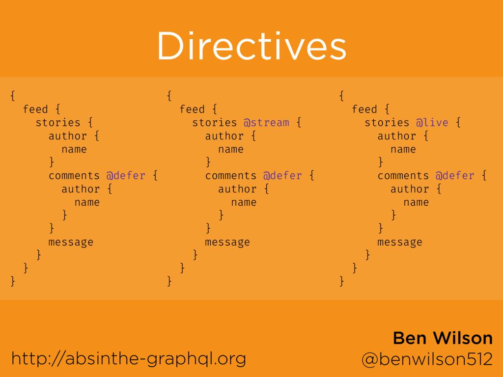 Directives http://absinthe-graphql.org Ben Wils...
