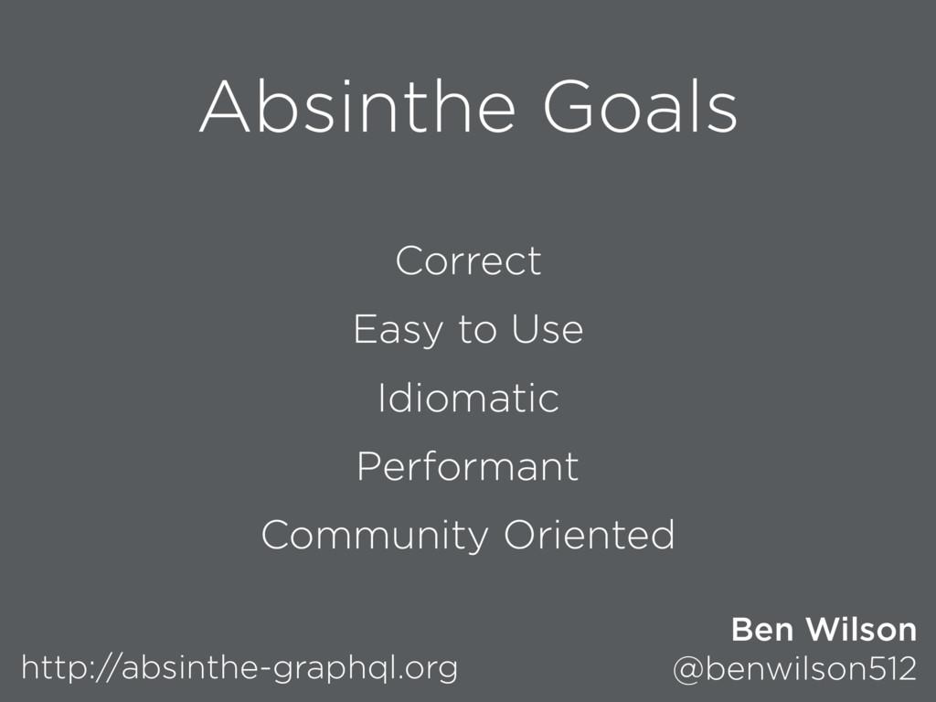 Absinthe Goals Correct Easy to Use Idiomatic Pe...