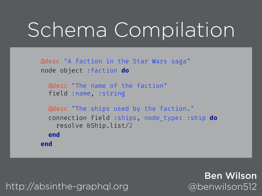 Schema Compilation http://absinthe-graphql.org ...