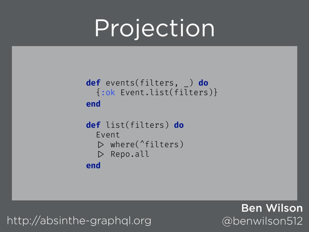 Projection http://absinthe-graphql.org Ben Wils...