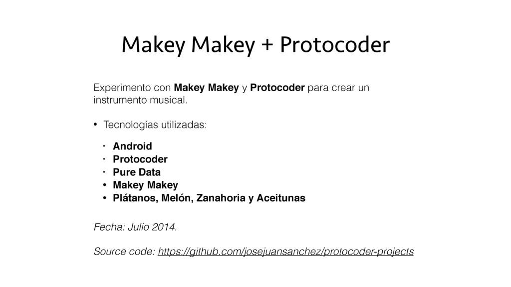 Makey Makey + Protocoder Experimento con Makey ...