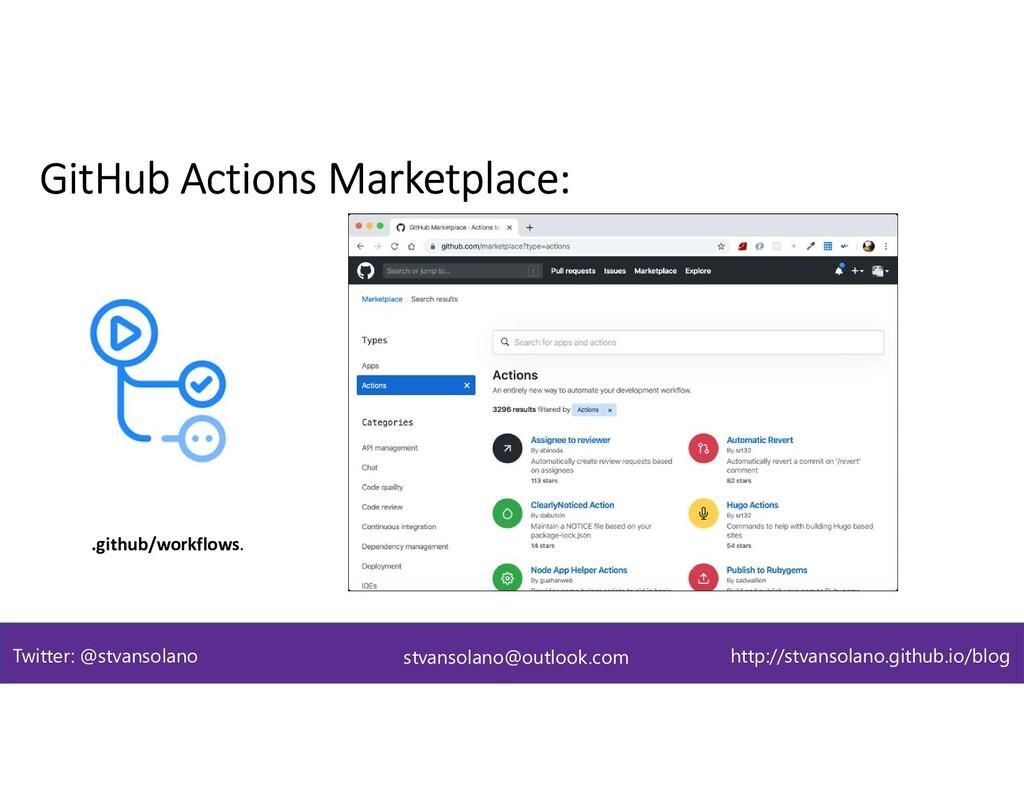 GitHub Actions Marketplace: .github/workflows. ...