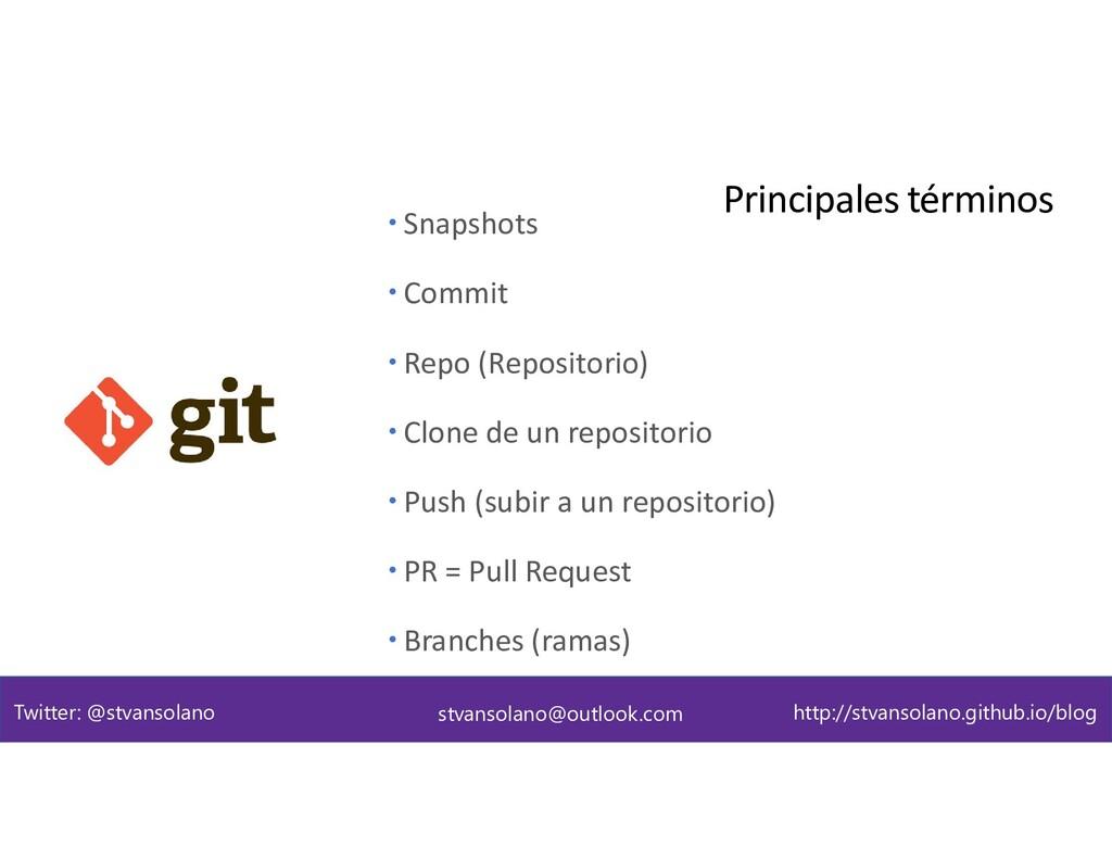 Terminología Principales términos stvansolano@o...