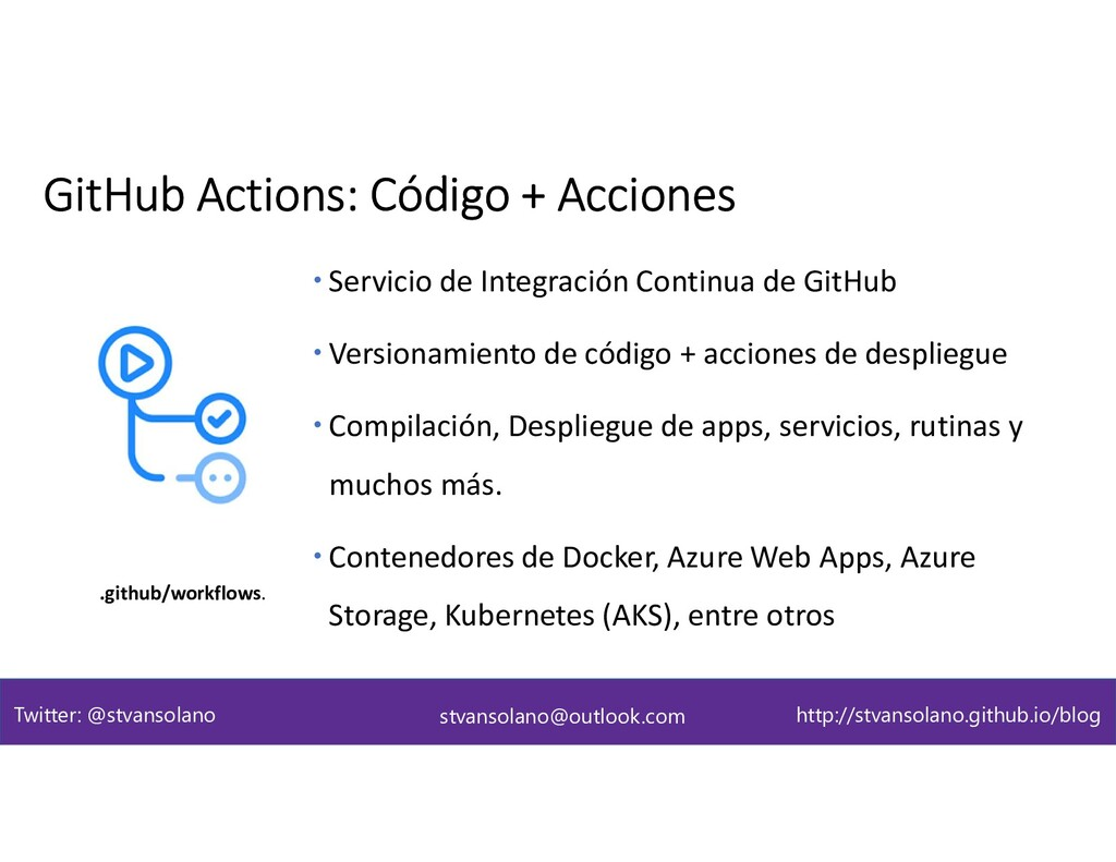  Servicio de Integración Continua de GitHub  ...