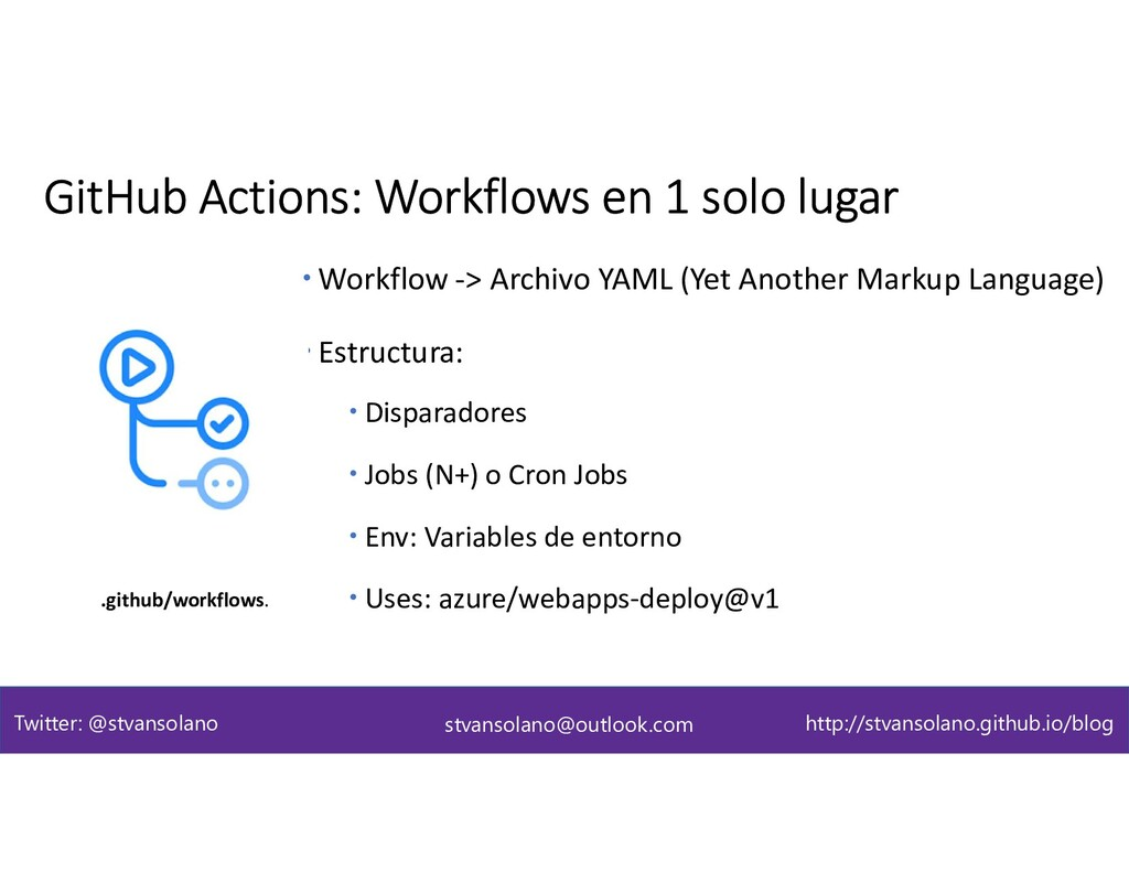  Workflow -> Archivo YAML (Yet Another Markup ...