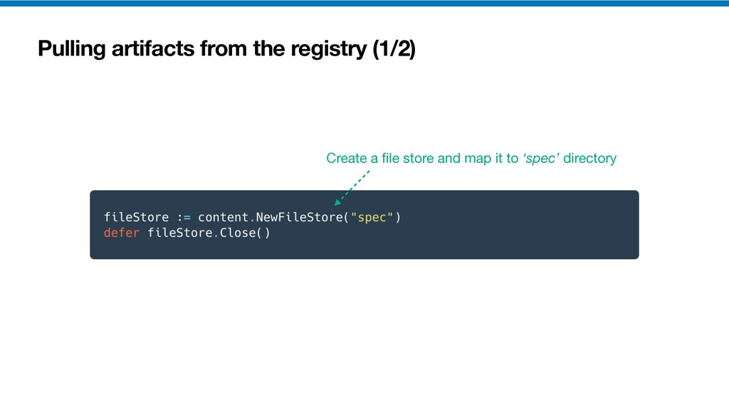 Pulling artifacts from the registry (1/2) Creat...