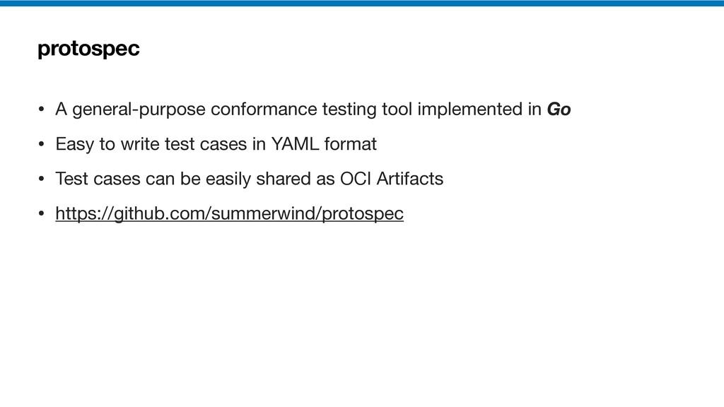 protospec • A general-purpose conformance testi...
