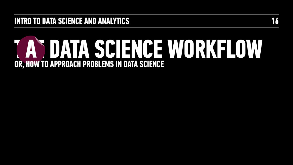 INTRO TO DATA SCIENCE AND ANALYTICS THE DATA SC...
