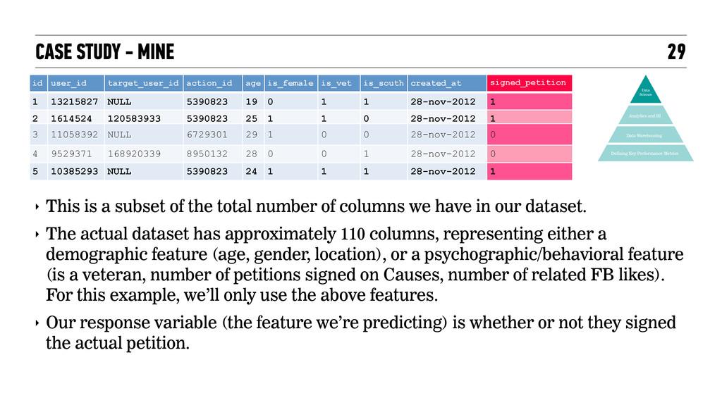 CASE STUDY - MINE 29 Data Warehousing Defining ...